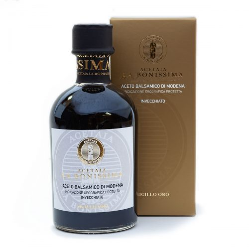 Modena Balsamic Vinegar, traditionally aged for approximately 10 yrs