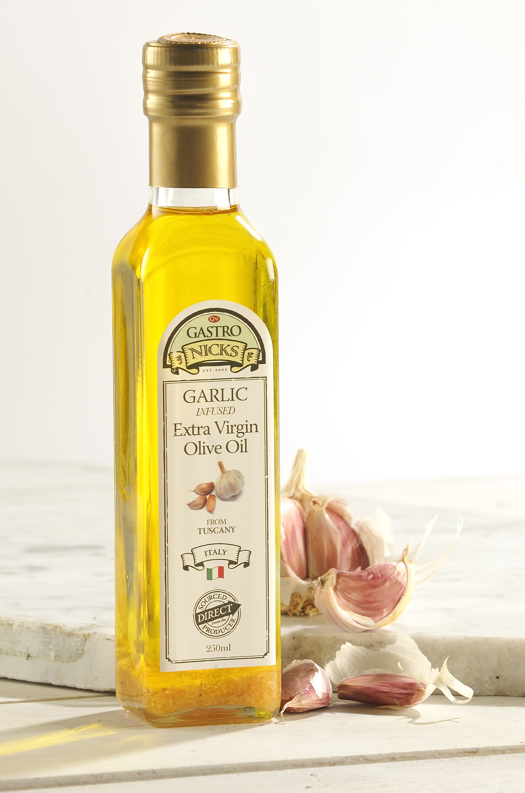 Garlic infused olive oil gastro nicks for Frying fish in olive oil