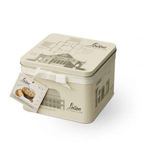 classic panettone in a gift tin