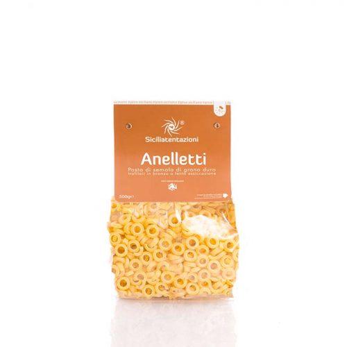 Traditional Sicilian Anelletti pasta