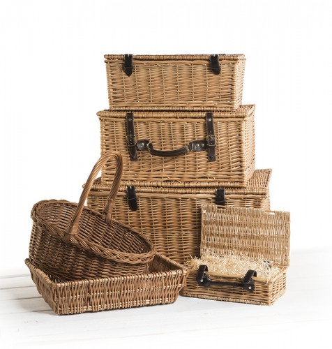 open wicker hamper baskets