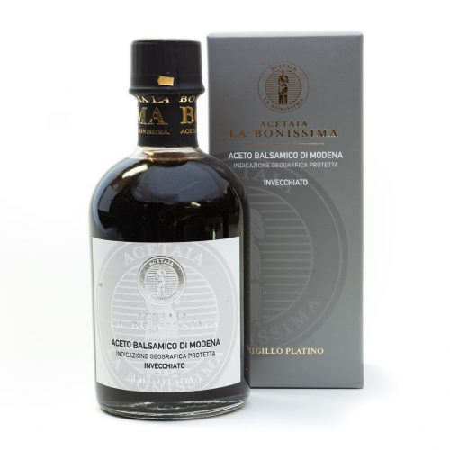 Modena Balsamic Vinegar, traditionally aged for approximately 15 yrs
