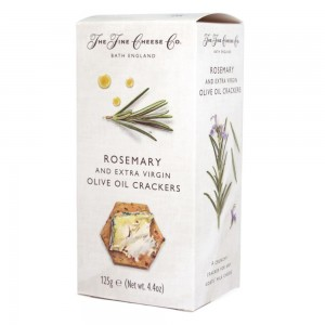 Rosemary crackers for goat's milk cheeses