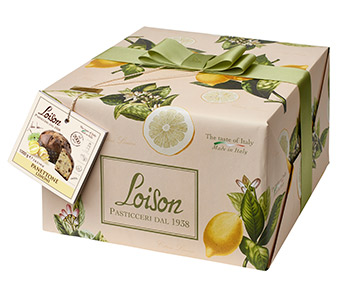Traditionally made Lemon Panettone with a lemon cream