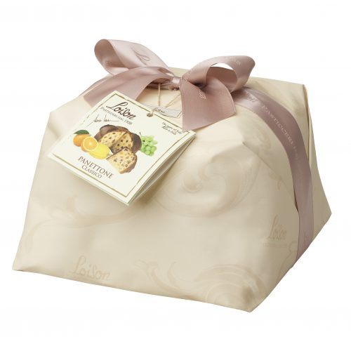 classic small panettone with vine fruits