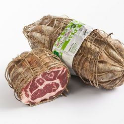 Dry cured Italian pork shoulder
