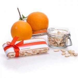 Sicilian soft almond nougat with orange peel