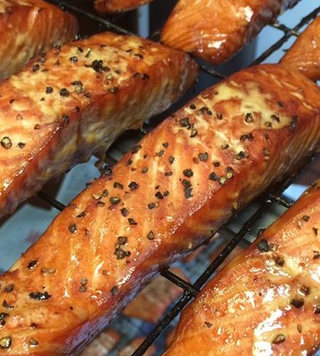 hot smoked salmon steaks