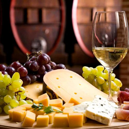 Festive cheese & wine tasting event