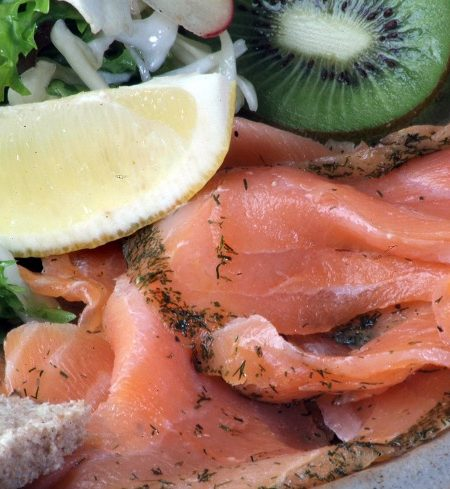cured Scottish salmon with dill