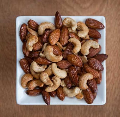 Authentically smoked almonds and cashews