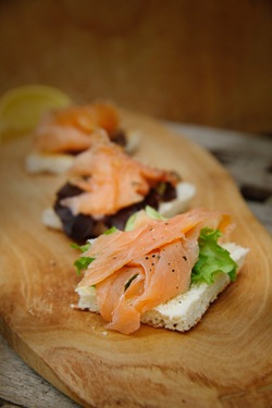 Cold smoked trout, pre-sliced